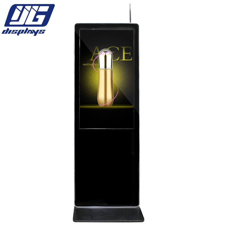 43inch black color floor standing LCD signage display for indoor using