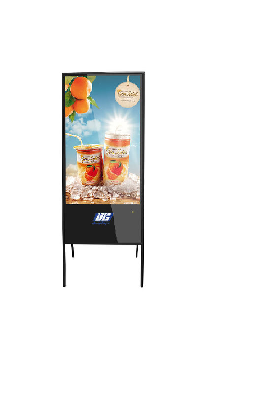 Floor Standing Alone LCD Advertising Display Stands / A - Type LCD Monitor Digital Signage